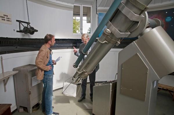 Rondleiding en uitleg bij de Merz-telescoop van Sonnenborgh