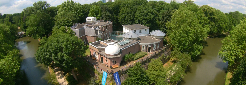 Sonnenborgh museum en sterrenwacht van bovenaf gezien